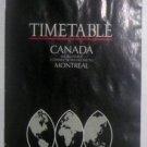 BRITISH AIRWAYS - 1991 CANADA TIMETABLE