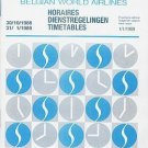SABENA BELGIAN AIRLINES - 1988-89 SYSTEM TIMETABLE