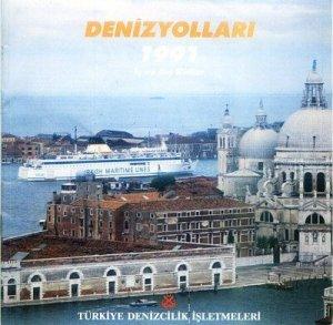 TURKISH MARITIME LINES - 1991 INTERNAL & INTERNATIONAL LINES SAILING SCHEDULES & TARIFFS