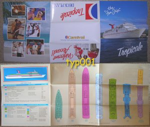 CARNIVAL CRUISE LINES - TROPICALE DECK PLANS