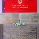 TURKISH AIRLINES - 1963 ANKARA-DIYARBAKIR-ANKARA RETURN TICKET