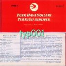 TURKISH AIRLINES - 1965 ANKARA - ISTANBUL ONE WAY TICKET - ALL RED