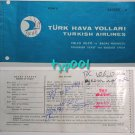 TURKISH AIRLINES - 1973 ISTANBUL-ANKARA-ISTANBUL RETURN TICKET