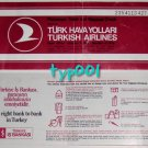 TURKISH AIRLINES - 1985 AMMAN - ISTANBUL ONE WAY INTERNATIONAL TICKET