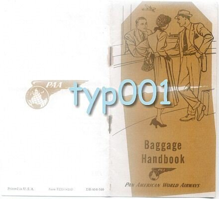 PAN AM - 1954 - BAGGAGE HANDBOOK