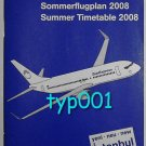 SUNEXPRESS AIRLINES - TURKISH - 2008 SUMMER SYSTEM TIMETABLE - 2. EDITION