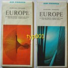 AIR FRANCE - 1969 EUROPE - NEAR EAST - NORTH AFRICA FLIGHTS ROUTE MAPS & ITINERARIES
