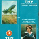 TURKISH AIRLINES - 1976-1977 WINTER SYSTEM TIMETABLE - RARE