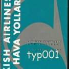 THY TURKISH AIRLINES - 1994 SUMMER SYSTEM TIMETABLE - 1. EDITION