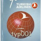 TURKISH AIRLINES - 2011 SUMMER SYSTEM TIMETABLE - 1. EDITION - KOBE BRYANT BACK COVER