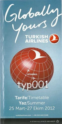 TURKISH AIRLINES - 2012 SUMMER SYSTEM TIMETABLE - 2. EDITION