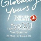 TURKISH AIRLINES - 2012 SUMMER DOMESTIC LINES TIMETABLE - 1. EDITION