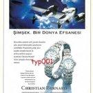 CHRISTIAN BERNARD WATCHES - LIGHTNING A WORLD LEGEND - TURKISH PRINT AD