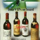 ALITALIA - 1984 - 4 VIPS ON BOARD - FINE CHIANTI WINES SERVED - PRINT AD