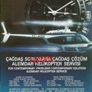 ALEMDAR HELICOPTER 1986 - CONTEMPORARY SOLUTIONS - TURKISH PRINT AD