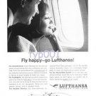 LUFTHANSA - 1964 - FLY HAPPY GO LUFTHANSA - PRINT AD