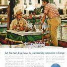 PAN AM - 1964 - YOUR TRAVELLING COMPANION TO EUROPE PORTOFINO - PRINT AD