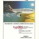 EMIRATES - 1988 - EVEN TIME FLIES WITH US - AIRBUS 310 - TURKISH PRINT AD
