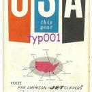 PAN AM - 1953-61 VISIT USA THIS YEAR BROCHURE IN FRENCH - EISENHOWER ERA