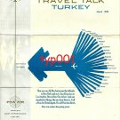 PAN AM - 1968 TRAVEL TALK TURKEY - BABY ELEPHANT CARGO - BROCHURE IN ENGLISH