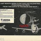 IBERIA - 1972 - MOON FLIGHTS PRINT AD
