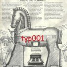 ELECTRONIC MEMORIES - 1972 - HIGH SPEED MEMORY PRINT AD - HORSE OF TROY