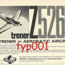 MOROVAN AIRCRAFT WORKS CZECHOSLAVAKIA - 1972 - Z526L AEROBATIC AIRCRAFT PRINT AD