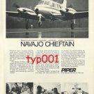 PIPER -1973 NAVAJO CHIEFTAIN PRINT AD