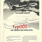 LOCKHEED - 1973 - L-1011 TRISTAR PRINT AD - OUR QUIET TAKEOFF