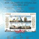TURKEY 2012 LONDON OLYMPICS STAMP ISSUE INFORMATION BROCHURE