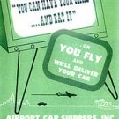 NATIONAL AIRLINES & AIRPORT CAR SHIPPERS 1950'S BROCHURE