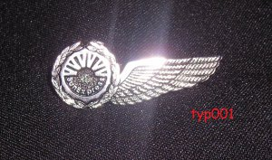 SUNEXPRESS AIRLINES - STEWARD & STEWARDESS WINGS - TURKISH & GERMAN AIRLINE - SILVER PLATED
