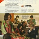 KOREAN AIRLINES - 1976 - FLY KOREAN IT'S ABOUT SERVICE PRINT AD