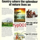 EAST AFRICAN AIRWAYS - 1976 - THE SAFARI AIRLINE PRINT AD - DEFUNCT AIRLINE