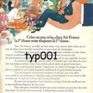 AIR FRANCE - 1974 - CRISIS OR NO CRISIS FIRST CLASS PRINT AD - FRENCH - BLACHON