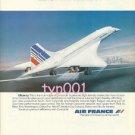 AIR FRANCE - 1979 - EFFICIENCY PRINT AD - CONCORDE