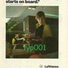 LUFTHANSA - 1980 - HOLIDAY STARTS ON BOARD  PRINT AD