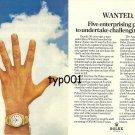 ROLEX - 1976 - FIVE ENTERPRISE AWARDS FOR 50TH ANNIVERSARY PRINT AD