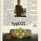 ROLEX - 1980 - DAVID PLASTROW OF ROLLS ROYCE PRINT AD - ROLEX DATEJUST