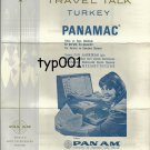 PAN AM - 1968 TRAVEL TALK TURKEY - PANAMAC COMPUTER SYSTEM - BROCHURE IN TURKISH