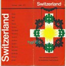 SWISSAIR - 1950'S SWISSAIR SBB  PTT & 15 CITIES BROCHURE - CONVAIR 990 CORONADO