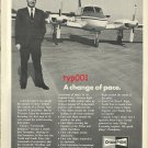 CHAMPION - 1972 - ELGEN LONG'S HISTORIC FLIGHT  PRINT AD - A CHANGE OF PACE