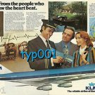 KLM - 1976 -   FROM THE PEOPLE WHO FIRST SAW THE HEART BEAT PRINT AD