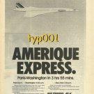 AIR FRANCE - 1976 - AMERIQUE EXPRESS PARIS - WASHINGTON BY CONCORDE  PRINT AD -2