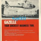 AEROSPATIALE - 1973 GAZELLE HELICOPTER PRINT AD