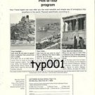 LUFTHANSA - 1964 - PICK A TOUR PRINT AD