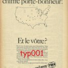 TWA - 1968 - 39 IS OUR LUCKY NUMBER PRINT AD - FRENCH