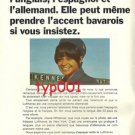 LUFTHANSA - 1968 - SHE CAN EVEN SPEAK IN BAVARIAN ACCENT PRINT AD -  FRENCH AD