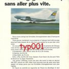 LUFTHANSA - 1968 - SAVES YOU TIME WITHOUT GOING FASTER PRINT AD - FRENCH AD