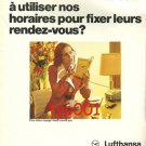 LUFTHANSA - 1974 - FIX YOUR APPOINTMENTS WITH OUR TIMETABLES PRINT AD - FRENCH